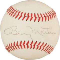 Billy Martin Single Signed Baseball