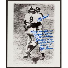 Don Larsen and Yogi Berra Signed Celebration Photo