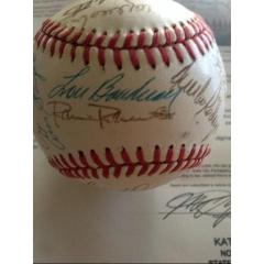 Warren Spahn Collection Ball - 27 Signatures