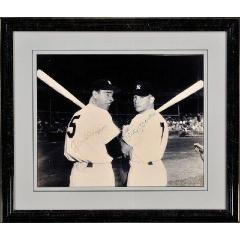 Mantle & DiMaggio Signed 16x20 Framed Photo
