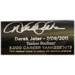 Derek Jeter Signed 3,000 Hit Tribute Bat