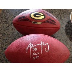 Aaron Rodgers Signed & Inscribed Super Bowl XLV Ball