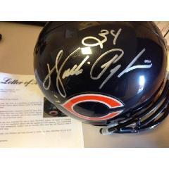 Walter Payton Autographed Helmet Replica