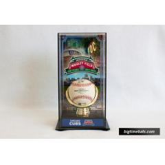 Wrigley Field 100th Anniversary Custom Display Case & Game Used Baseball