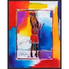 Michael Jordan Signed Peter Max Litho