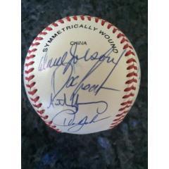 1993 New York Mets Team Signed Baseball