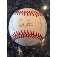 1990 Texas Rangers Team Signed Baseball