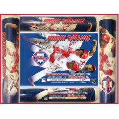 Jimmy Rollins Phillies All Time Hits Leader Photo Bat