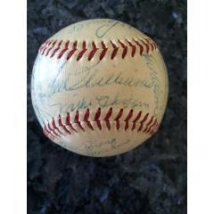 1955 Red Sox Team Signed Baseball