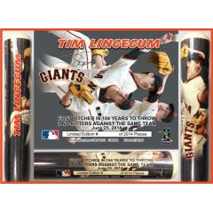 Tim Lincecum 2nd Career No Hitter Commemorative Photo Bat
