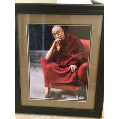 Dalai Lama Signed Photo Framed and Matted