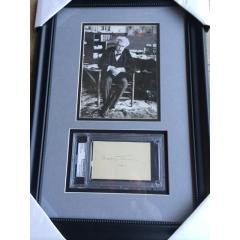 Mark Twain Framed Photo & Signature Presentation
