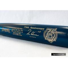 Tom Glavine Hall of Fame Commemorative Bat