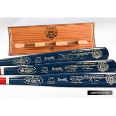Atlanta Braves Hall of Fame 3 Bat Set & Custom Display Rack