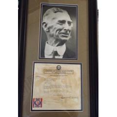 Connie Mack Framed Photo Presentation