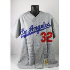 Sandy Koufax Jersey Signed by 11 Perfect Game Pitchers