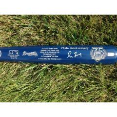 Greg Maddux Signed Hall of Fame Commemorative Bat - Braves Edition