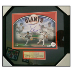 Tim Lincecum Signed 2nd No Hit Framed Presentation
