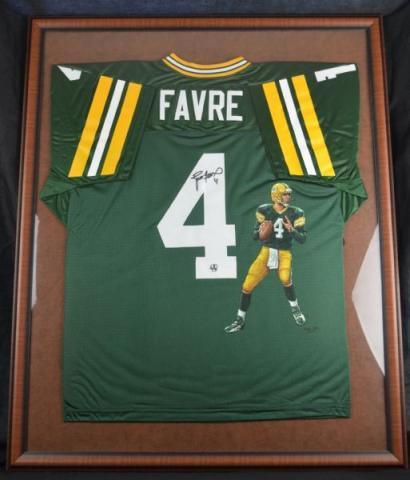 timeless design fce5e c9625 Brett Favre Signed Hand Painted Packers Jersey ...