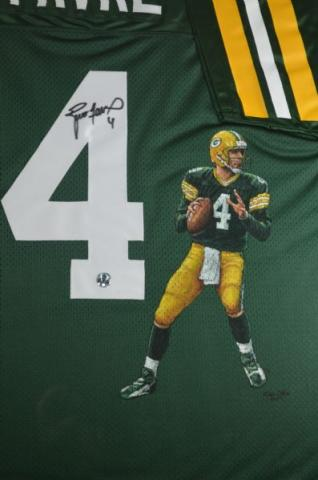 Brett Favre Signed Hand Painted Packers Jersey