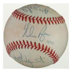 Brett, Yount & Ryan Signed Baseball