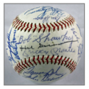 1970s Yankees Multi-Signed Baseball