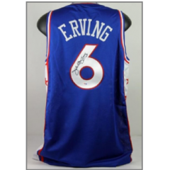 Julius Erving Signed 76ers Jersey