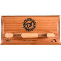 Nationals Custom Engraved Logo Two Bat Display Rack