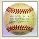 1972 Yankees Team Signed Baseball