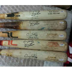 Pablo Sandoval Signed & Inscribed Game Used Bats