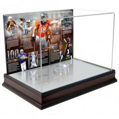 Custom Peyton Manning TD Passing Record Football Display Case