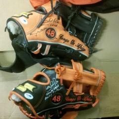Pablo Sandoval Signed & Inscribed Game Used Gloves
