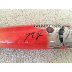 Madison Bumgarner Autographed World Series MVP Photo Bat