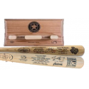 Special Biggio & Berkman Two Bat Set with FREE Astros Logo Bat Rack