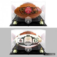 Ohio State CFP Champions 2 Ball Set with Custom Display Cases