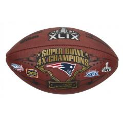 Patriots 4 Time Super Bowl Champions Game Ball