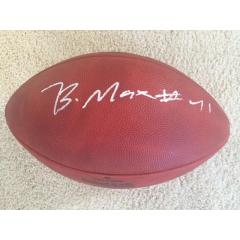 Byron Maxwell Autographed Seahawks Super Bowl XLVIII Champs Football