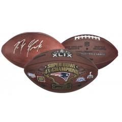Rob Gronkowski Signed Super Bowl XLIX Wilson Game Ball