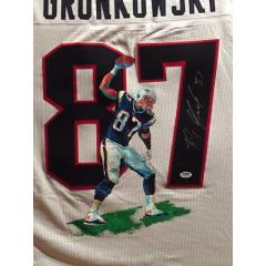Rob Gronkowski Hand Painted Jerseys by Al Sorenson