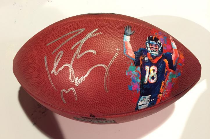 Peyton Manning Painted Football by Al Sorenson - BigTimeFootballs.com 63f237518