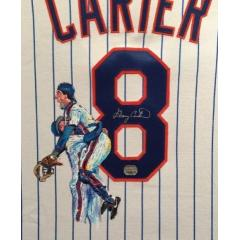 Gary Carter Hand Painted Jersey by Al Sorenson
