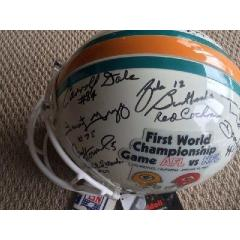 Packers Legends and Hall of Famers Signed Helmet