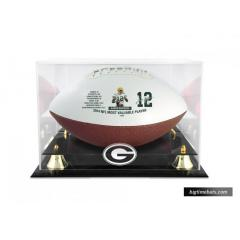 Aaron Rodgers Commemorative MVP Football & Display Case Set