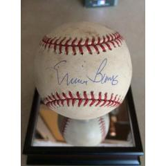 Ernie Banks Signed Wrigley Field Game Used Baseball