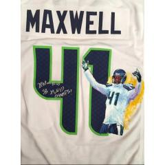 Byron Maxwell Signed Hand Painrted Jersey