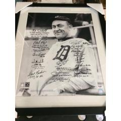 Ty Cobb Photo Signed by 21 MLB Batting Champions