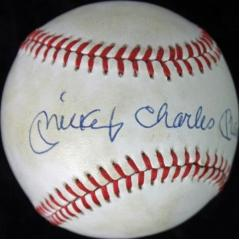 Mickey Mantle Signed Baseball with Full Name