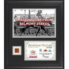 American Pharoah Framed Triple Crown Presentation of Belmont Stakes
