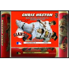 Chris Heston No Hitter Commemorative Photo Bat