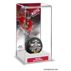 Duncan Keith Autographed Puck and Custom Display Case